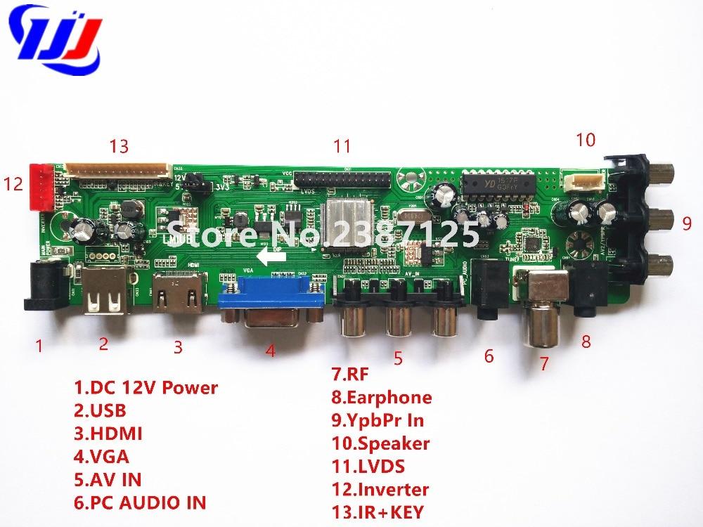 Z. VST.3463.A1 Unterstützung DVB-C DVB-T DVB-T2 statt T. RT2957V07 Universal LCD TV Controller Driver mit fern