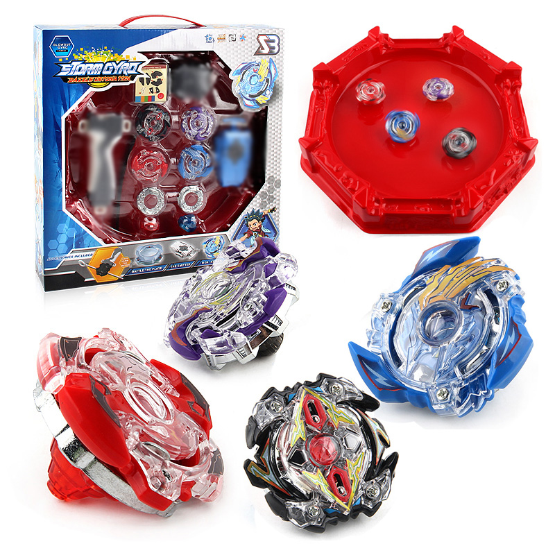 Beyblade Burst 4D Set With Launcher and Arena Metal Fight Battle Fusion Classic Toys With Original Box For Kid Christmas Gift F3 sog fusion battle ax