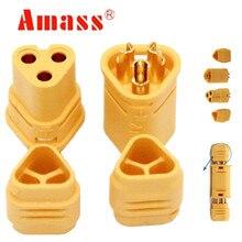 100 para AMASSMT30 złącze 2mm 3 Pin męski i żeński złącze silnika wtyczki zestaw do RC Model 40% off