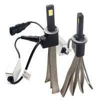 2pcs 880 LED Car Headlight Head Lamp Car Styling Conversion Kit 6000K 3200LM Aluminum Alloy Belt