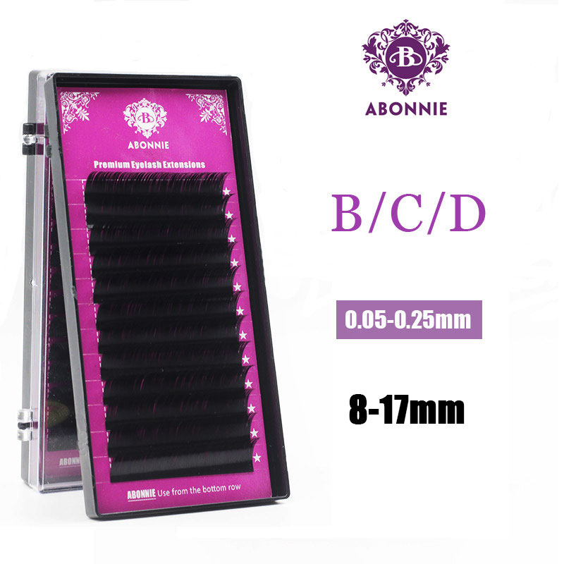 1 Pc 0.03-0.25mm B/C/D Curl Mink Eyelash Extension Thin And Soft Material 3d 6d Voluming Lashes Tray Lash