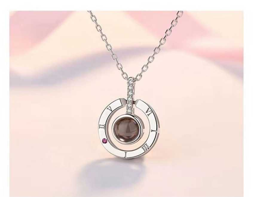 I Love You Necklace in 100 languages (Rose Gold & Silver)