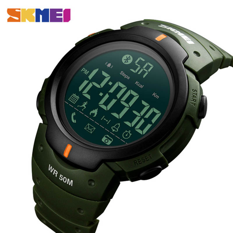 SKMEI Digital Wristwatches Pedometer Reminder Remote-Camera Bluetooth Sport Brand Fashion