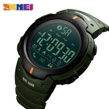 SKMEI montre de sport pour homme marque mode podomètre caméra à distance calories Bluetooth Smartwatch rappel montres numériques