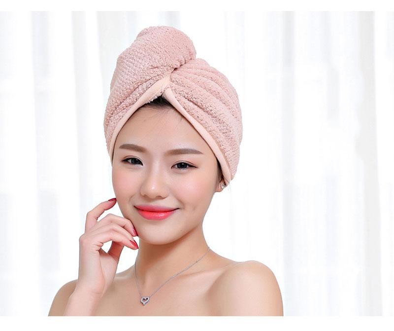 GIANTEX Japanese Polyester Cotton Women Bathroom Super Absorbent Quick-drying Bath Towel Hair Dry Cap Salon Towel 23x60cm U1031 8