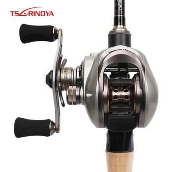 TSURINOYA Baitcasting Reel 6.6:1/9+1BB Magnetic and Centrifugal Dual Brake Fishing Reels Moulinet Peche Steering Wheel Feeder
