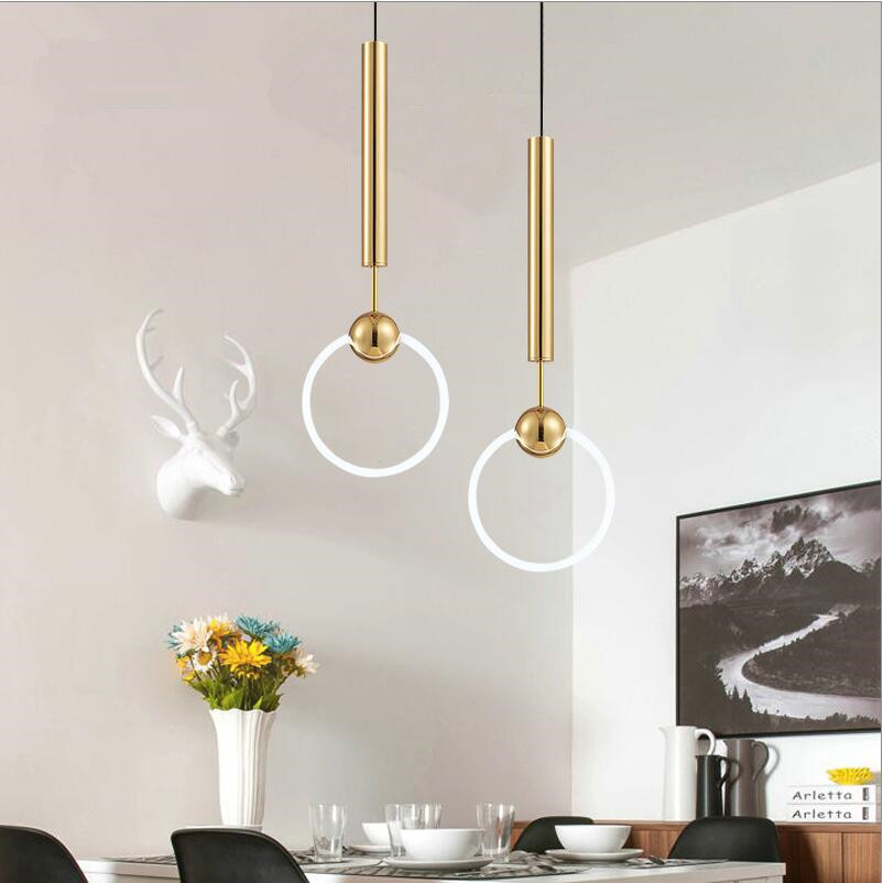 Lee Broom Ring T6 Led Pendant Lights Lustre Gold Pendant Light For Living Room Bar Led Luminaria Suspend Lamp Lighting Fixtures
