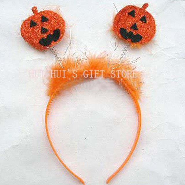 free shipping 10pcslot halloween pumpkin headbandhalloween headbandcarnival headband