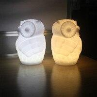 Mới Dễ Thương Owl Đêm LED Light Nursery Phòng Ngủ Con Phòng Mầu Kid Ấm Glow Lamp Sỉ Vận Chuyển Miễn Phí 3RL29