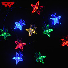 Solar Ed Pentagram Lights Colorful Wedding Decoration Led Lanterns Outdoor Festival Star Free Shipping