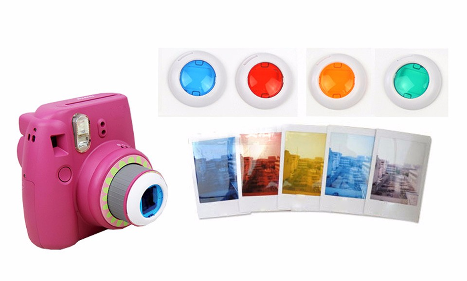 6 In 1 Colorful Filter For Fujifilm Instax Mini 8 7S Magic Lens Set Round Square Heart Shaped Instant Film Camera Accessories 9