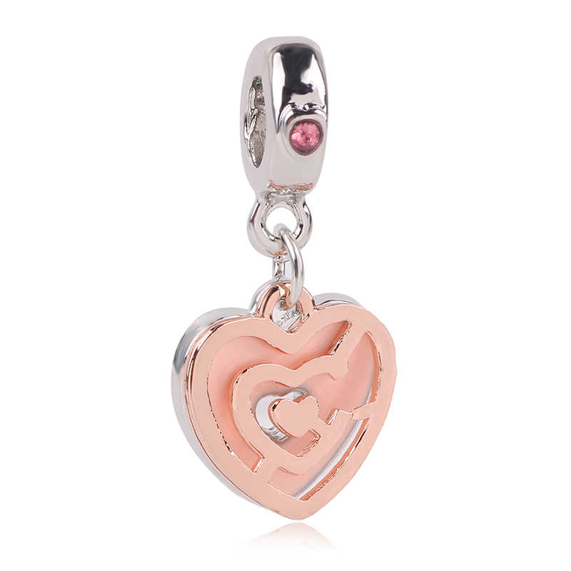 Fit สร้อยข้อมือ Pandora สร้อยข้อมือสร้อยคอ DIY ผู้หญิงเครื่องประดับ Sliver ใหม่ริมฝีปาก Fox ลูกปัด Mickey Fairytale สัตว์ Love Charm