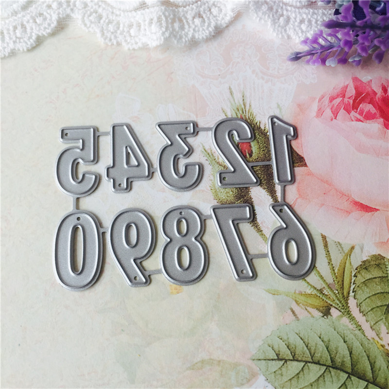 0 9 Numbers Metal Cutting Dies for Scrapbooking DIY Album Embossing Folder Paper Cards Maker Template Decor Stencils Crafts in Cutting Dies from Home Garden