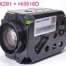 """H.265 супер ночного видения 4,7-84,6 мм моторизованный зум и фокусные линзы 1/2. """" STARVIS IMX291 CMOS+ Hi3516D CCTV IP камера плата модуль"""