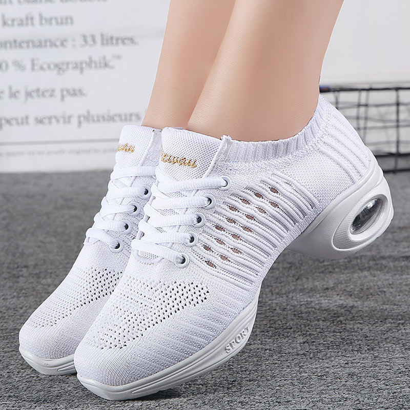 New Soft Comfortable Dancing Shoes For Women Summer Mesh Modern Jazz Dance Shoes High Quality Lady Dance Sneakers Female Shoes