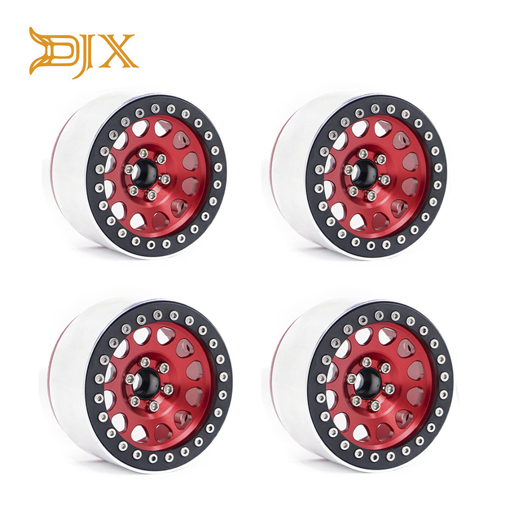 DJX 4PCS Aluminum Alloy 2 2 Inch Beadlock Wheel Rims for 1 10 RC Rock Crawler
