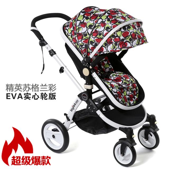 Alemán de alta paisaje puede sentarse o acostarse cochecito de bebé cochecito de niño plegable portable cuatro amortiguadores entrega gratuita