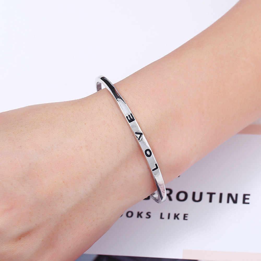Стильный женский браслет в стиле бохо, романтичный браслет Bileklik Pulseira, браслет с надписью «Love», Женские Ювелирные изделия, браслеты для пары, L0513