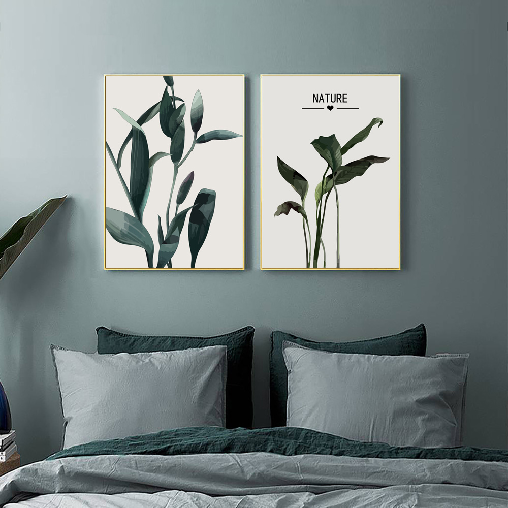 Plant Canvas Painting Green Poster Leaves Landscape Canvas Print Art Pop Art Pictures for Kitchen Prints Leaf Painting Unframed in Painting Calligraphy from Home Garden