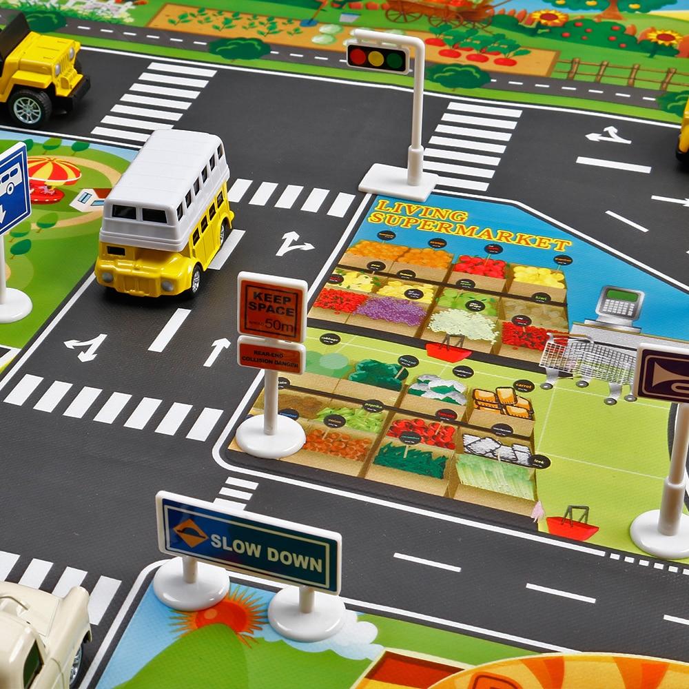 HTB1WeVhajnuK1RkSmFPq6AuzFXam North European Style Kid Car City Scene Traffic Highway Map Play Mat Educational Toy For Children Toddler Climb Game Road Carpet