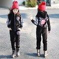 Детские спортивные костюмы дети спортивный костюм мальчиков одежда 4-13Tmouth дизайн детской одежды костюм для мальчиков девочек-подростков одежда