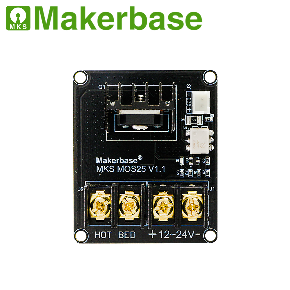 cheapest Makerbase MKS MOS25 3D printer parts heating-controller for heat bed extruder MOS module support big current 25A