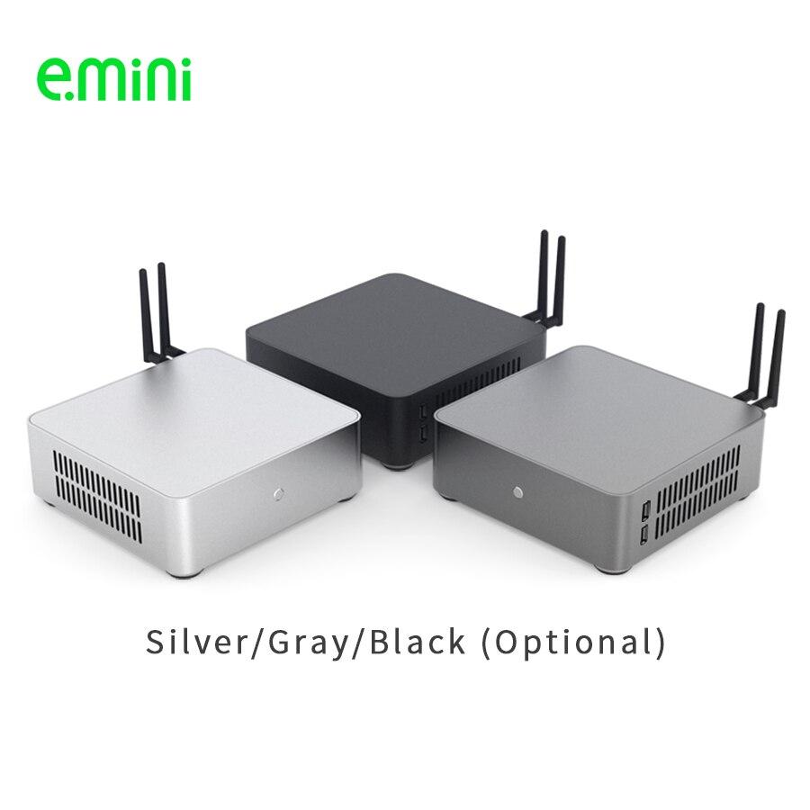 E. MINI H65S Mini ITX Computer Fall Aluminium Desktop Server PC Chassis Mit Zwei USB2.0 Für Büro Unterstützung OEM