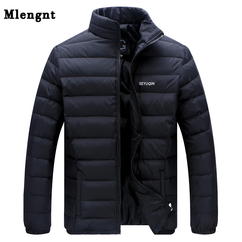 Big Size 2018 White Duck Down Giacca invernale da uomo Ultralight Down Jacket Capispalla Casual Snow Warm Collare in pelliccia Brand Coat Parkas