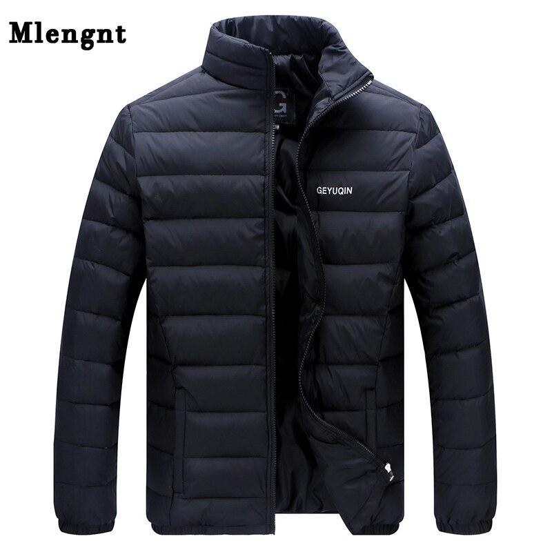 Talla grande 2018 chaqueta de invierno de plumón de pato blanco para hombre chaqueta de plumón ultraligera ropa de abrigo Casual de piel cálida de nieve abrigo de marca Parkas
