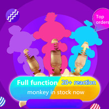 6 Color Toys Interactive Monkey Smart Finger baby monkey Induction christmas gift kids pet toys for