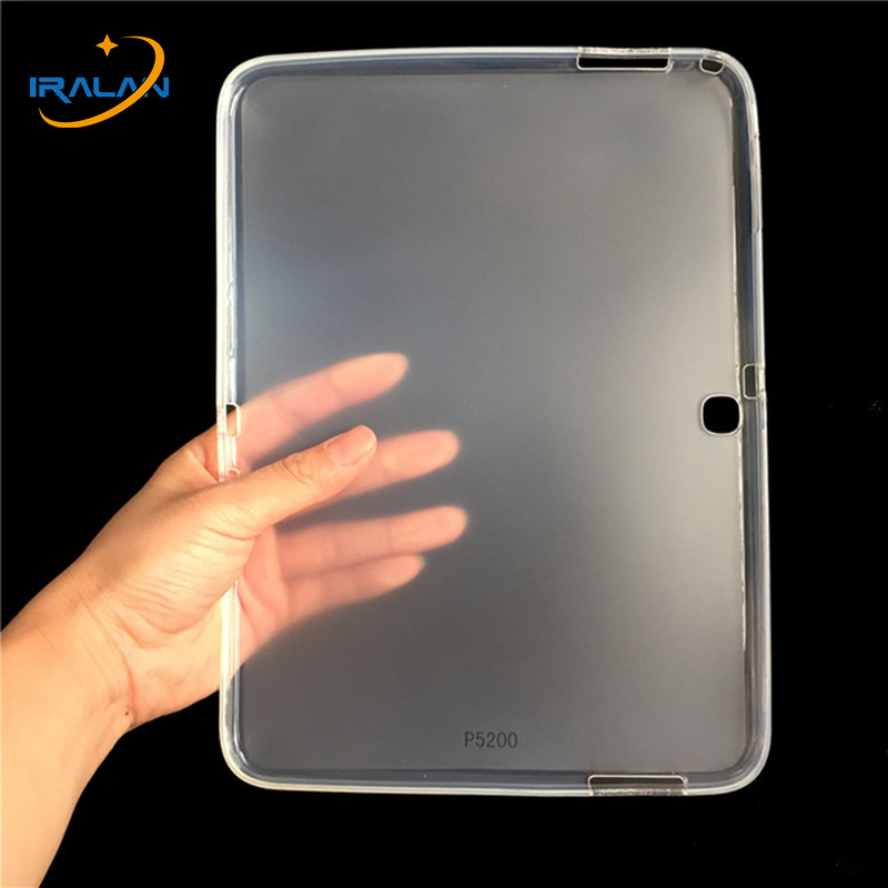 Silicone Tablet <font><b>Case</b></font> For Samsung Galaxy Tab 3 10.1 GT P5200 <font><b>P5210</b></font> Ultra Thin Soft TPU Back Cover For Samsung Tab3 10.1 inch <font><b>case</b></font> image