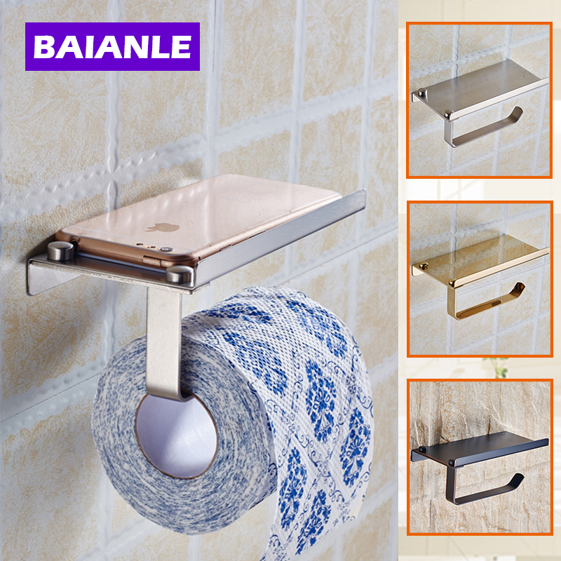 Stainless Steel Bathroom Paper Phone Holder with Shelf Bathroom Mobile  Phones Towel Rack Toilet Paper Holder. Popular Bathroom Phone Holder Buy Cheap Bathroom Phone Holder lots
