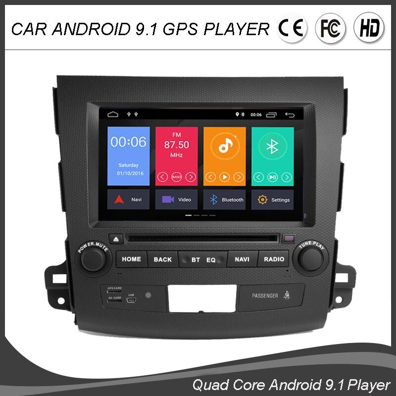 8''Android 9.0 Quad Core CAR DVD GPS Player For MITSUBISHI Outlander 2006-2012 Radio Navigation Multimedia BT WIFI Map TPMS DAB+