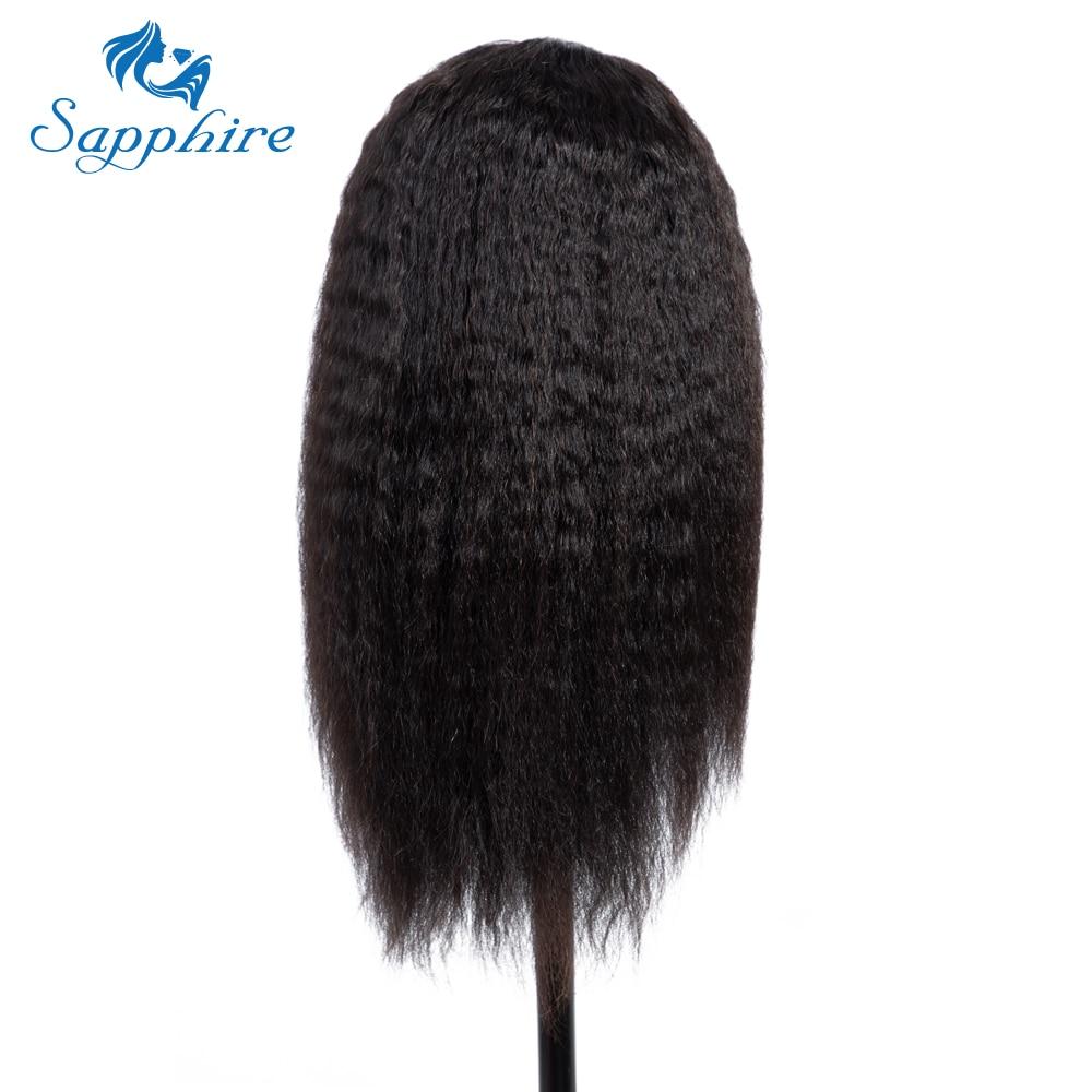 HTB1WeWea6nuK1RkSmFPq6AuzFXaC Sapphire 4*4 Deep Part Lace Wigs Brazilian Human Hair Wigs Pre Plucked Yaki Straight Kinky Straight Lace Closure Wigs For Women