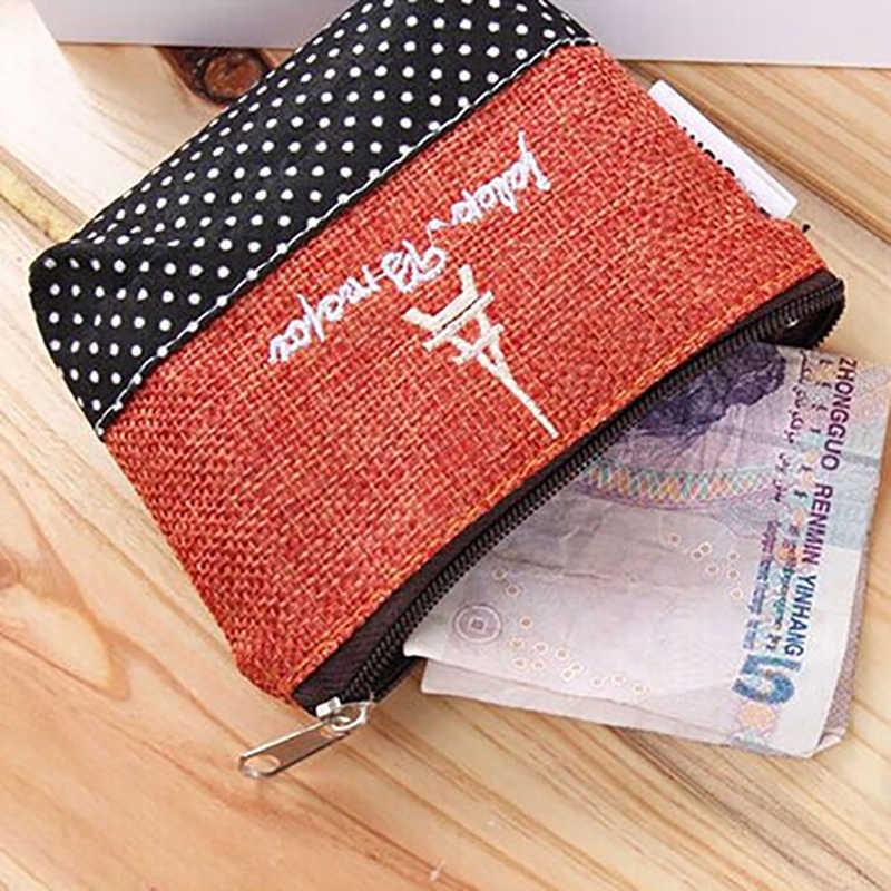 2016 nouveau Design Mini porte-monnaie rétro coton sac à main pochette portefeuille argent sac Case fermeture à glissière cadeaux 9R54