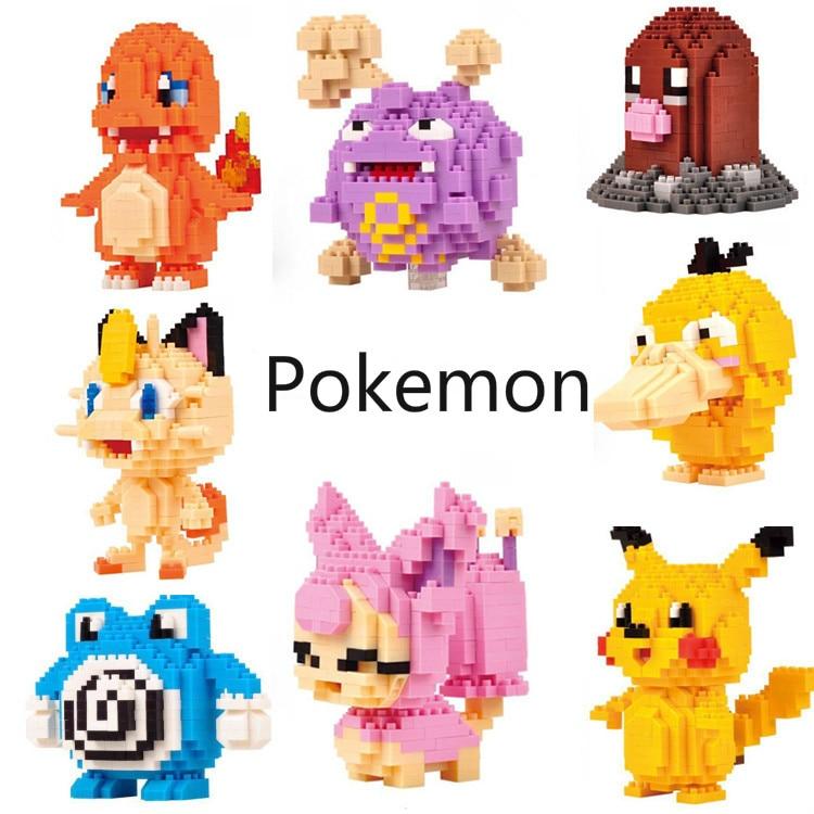 Small grain diamond leisure insert plastic building blocks elf toy Pikachu