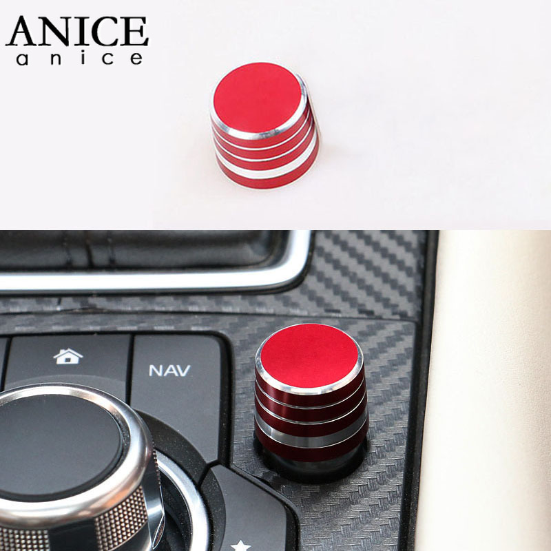 Aluminium Alloy Parts Knob Volume Button Controller Cover Fit for Mazda6 ATENZA Mazda3 Axela CX-9/CX-5/CX8/CX5/CX8/<font><b>CX9</b></font> <font><b>2017</b></font> 2018 image