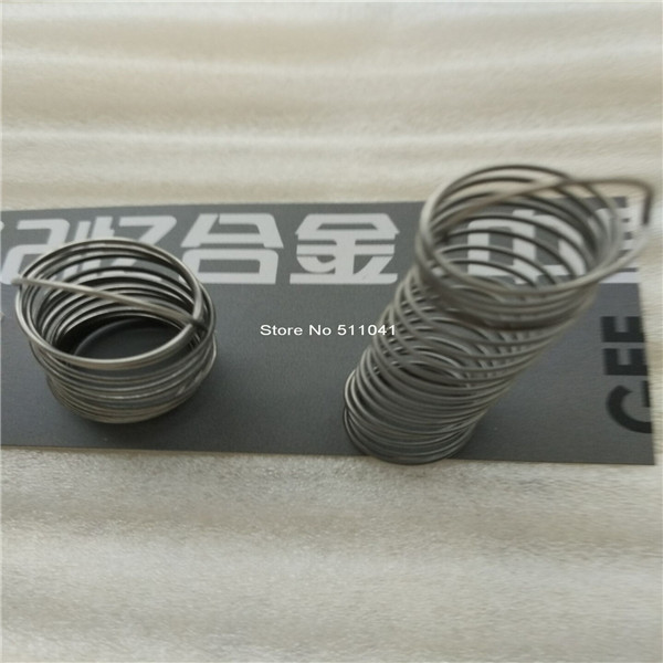 цена nitinol wire springs, original shape length 20mm,20 windings,6pcs free shipping