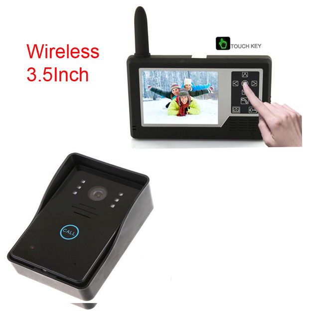 Free Shipping 2.4G 3.5 inch TFT wireless  Video Door Phone Intercom Unlock Doorbell Home Security Camera Night Vision Doorbell