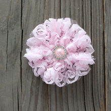 flower Trend Vintage Lace Flower Frilly Hair Flowers Tulle flower perfect for DIY girl Hair Accerssiory 11colors 90PCS