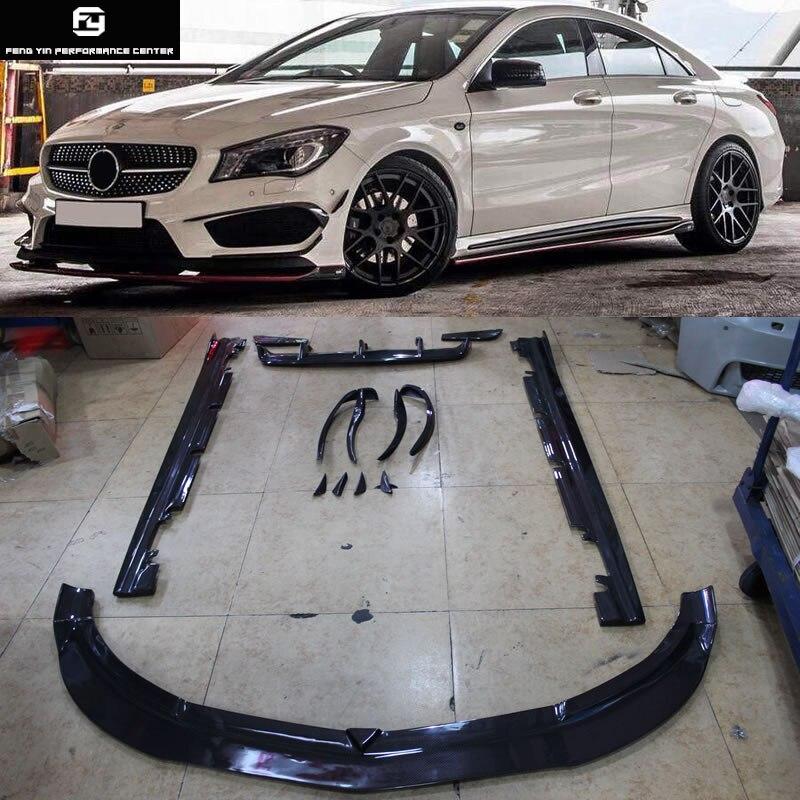 W117 CLA220 CLA260 fibre de carbone pare-choc avant côté jupes arrière pare-chocs diffuseur pour Mercedes Benz W117 C117 2014-2015