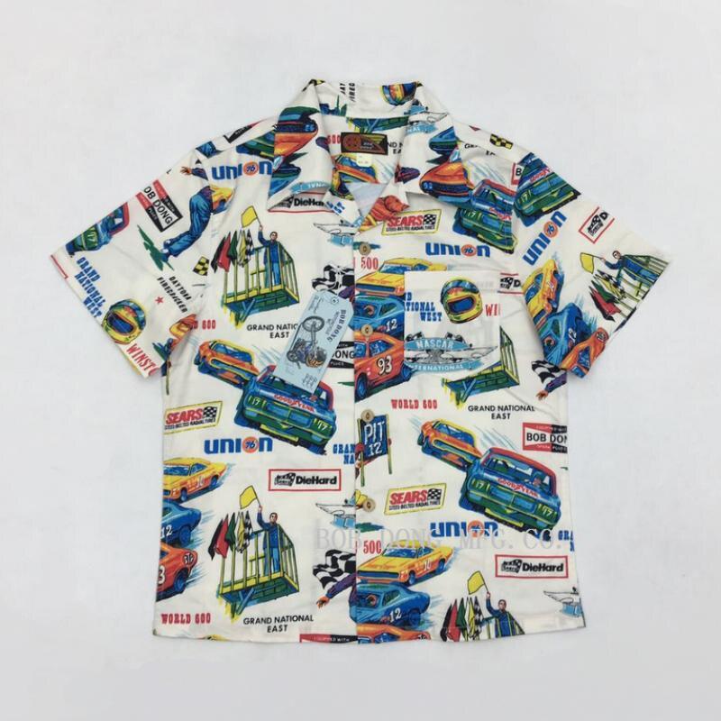 06b79058c Detail Feedback Questions about Bob Dong Mens Hawaii Aloha Shirts Summer  Car Print Biker Moto Hawaiian Shirts For Men Short Sleeve Pattern Vacation  Beach ...