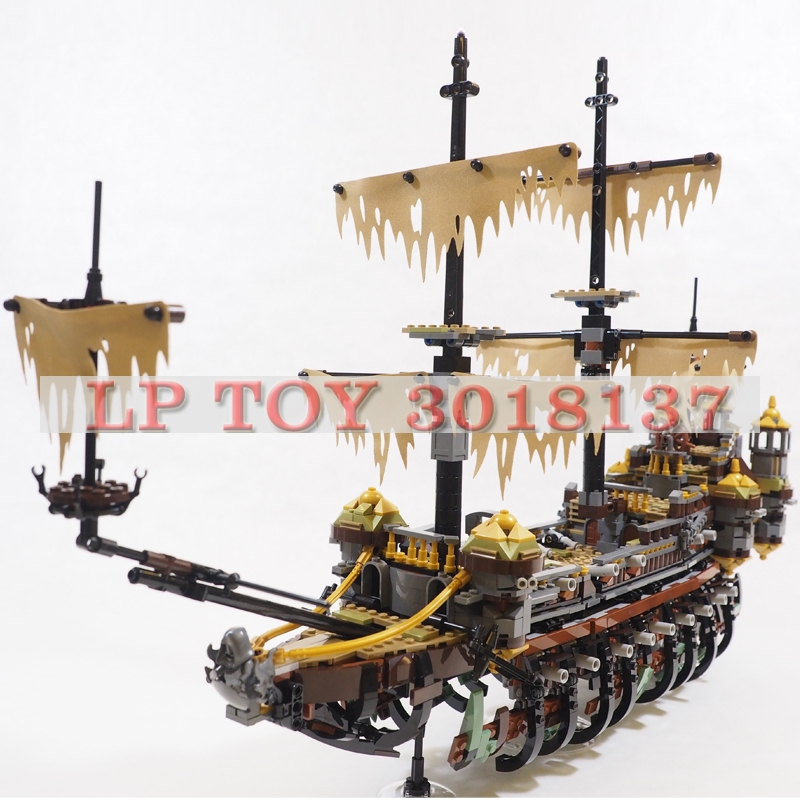 IN Stock 100% Compatible 70810 LP 16042 2370 Pirate Ship The Slient Mary Set Model Building Kits Blocks Christmas Toy in stock lepin 16002 2791pcs pirate ship metalbeard s sea cow model building kits blocks bricks compatible children toys 70810