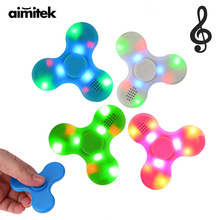 Aimitek 3 in 1 LED Wireless Bluetooth Speaker Fidget Hand Tri Spinner EDC Funny Toy Anti Stress For Autism ADHD Adult Kids