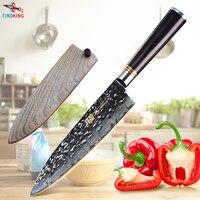 FINDKING New Ebony wood handle Japanese damascus knife 8 inch chef knife 67 layers kitchen knife