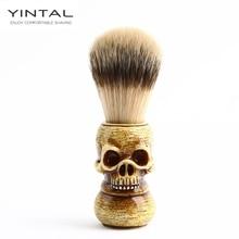 Men Shaving Brush Resin Skull Head Badger Beard Brush Skeleton Makeup Brush Barber Tools
