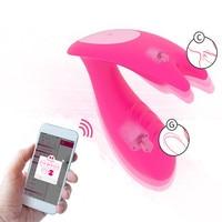 APP Bluetooth Dual Vibrator Magic Motion Panties Remote Control G Spot Clitoris Massager Rabbit Wearable Sex Toy for Woman