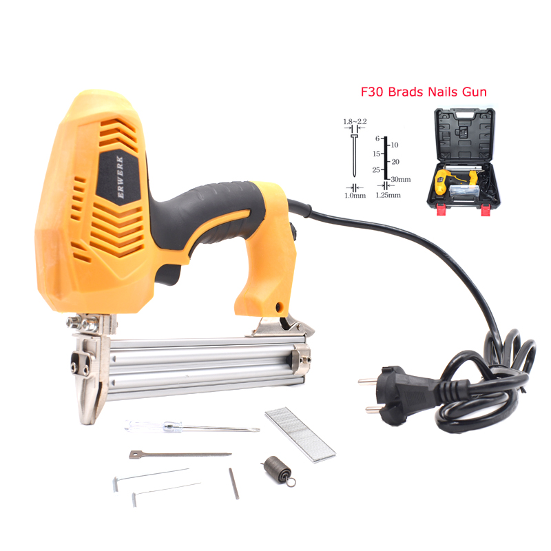 Heavy Duty Electric Nails Gun F30 Brad Framing Tacker Stapler Gun Household Electric Power Tools