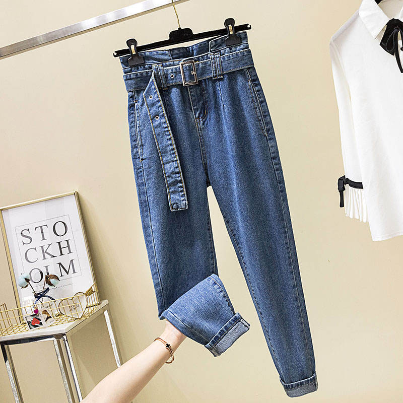 Women High Waist Jeans Femme Casual Harem Pants Women Pantalon Femme Denim Loose Ladies Boyfriend Jeans For Women Trousers C5507