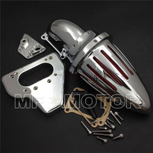 Motorcycle Accessories Air Cleaner kits intake for Honda 2002-2009  VTX 1800 R S C N F CHROME aftermarket motorcycle parts spike air cleaner intake filter kits for 2002 2009 hond vtx 1800 black